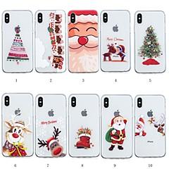 Недорогие Кейсы для iPhone 6 Plus-Кейс для Назначение Apple iPhone XR / iPhone XS Max С узором Кейс на заднюю панель Рождество Мягкий ТПУ для iPhone XS / iPhone XR / iPhone XS Max