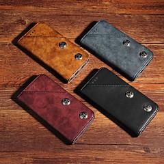 Недорогие Кейсы для iPhone 7-Кейс для Назначение Apple iPhone XR / iPhone XS Max Кошелек / Бумажник для карт / со стендом Чехол Однотонный / Плитка Твердый Кожа PU для iPhone XS / iPhone XR / iPhone XS Max