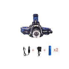 preiswerte Stirnlampen-2000 lm Stirnlampen LED 3 Modus 568-T6 01 - Zoomable- / Wasserfest / einstellbarer Fokus