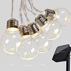 お買い得  LED ストリングライト-2.5m ストリングライト 10 LED 温白色 装飾用 ソーラー駆動 1セット
