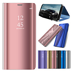Недорогие Чехлы и кейсы для Huawei Mate-Кейс для Назначение Huawei Huawei Mate 20 Lite / Huawei Mate 20 Pro со стендом / Покрытие / Зеркальная поверхность Чехол Однотонный Твердый ПК для Mate 10 / Mate 10 pro / Mate 10 lite