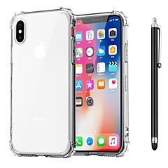 Недорогие Кейсы для iPhone X-Кейс для Назначение Apple iPhone XR / iPhone XS Max Защита от удара / Прозрачный Кейс на заднюю панель Однотонный Мягкий ТПУ для iPhone XS / iPhone XR / iPhone XS Max