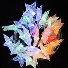 abordables Tiras de Luces LED-5 m Cuerdas de Luces 30 LED Multicolor Decorativa / Cool Funciona con Energía Solar