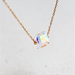 preiswerte Halsketten-Damen Kristall Solitär Anhängerketten - Natur, Modisch Niedlich Gold 40 cm Modische Halsketten Schmuck 1pc Für Party / Abend, Geschenk