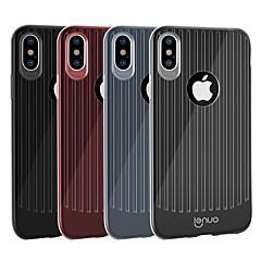 Недорогие Кейсы для iPhone-Кейс для Назначение Apple iPhone XR / iPhone XS Max Защита от удара / Ультратонкий Кейс на заднюю панель Полосы / волосы Мягкий ТПУ для iPhone XR / iPhone XS Max