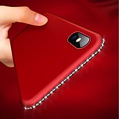 Недорогие Кейсы для iPhone 6 Plus-Кейс для Назначение Apple iPhone XR / iPhone XS Max Ультратонкий / Матовое Кейс на заднюю панель Стразы Мягкий ТПУ для iPhone XS / iPhone XR / iPhone XS Max