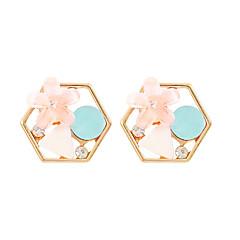 preiswerte Ohrringe-Damen Geometrisch Ohrstecker - Blume Süß, Modisch, Elegant Purpur / Blau Für Normal Alltag