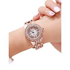 preiswerte Damenuhren-Damen Armbanduhr Quartz 30 m Kreativ Neues Design Legierung Band Analog Luxus Modisch Silber / Rotgold - Silber Rotgold Rotgold / Silber
