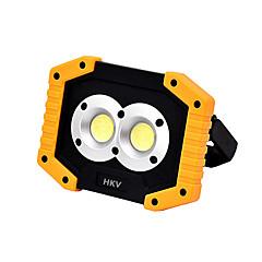 billige Utendørsbelysning-HKV 1pc 10 W LED-lyskastere Nytt Design Kjølig hvit 5 V Utendørsbelysning 2 LED perler