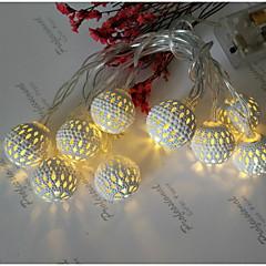 preiswerte LED Lichtstreifen-1.5 Leuchtgirlanden 20 LEDs Warmes Weiß Dekorativ AA-Batterien angetrieben 1 set