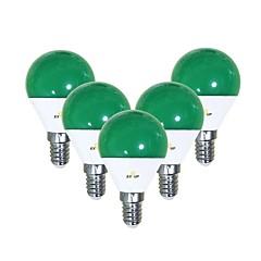 preiswerte LED-Birnen-EXUP® 5 Stück 5 W 450 lm E14 LED Kugelbirnen G45 12 LED-Perlen SMD 2835 Niedlich / Kreativ / Party Grün 220-240 V / 110-130 V