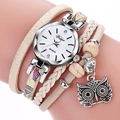 preiswerte Damenuhren-Damen Armbanduhr Quartz Neues Design Armbanduhren für den Alltag PU Band Analog Modisch Elegant Schwarz / Weiß / Blau - Grau Blau Rosa Ein Jahr Batterielebensdauer