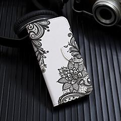 Недорогие Кейсы для iPhone 5-Кейс для Назначение Apple iPhone XS / iPhone XS Max Флип / С узором Чехол Цветы Твердый Кожа PU для iPhone XS / iPhone XR / iPhone XS Max