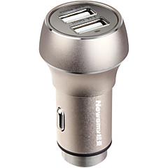 Недорогие Автоэлектроника-newsmy nm-9 безопасность высокого качества 5 v безопасность прикуривателя 2 USB-порта автомобильное зарядное устройство