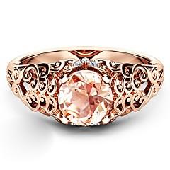 preiswerte Ringe-Damen Braun Kubikzirkonia Ring - Rose Gold überzogen, Diamantimitate Wolken Künstlerisch, Modisch 6 / 7 / 8 / 9 / 10 Rotgold Für Party Verabredung