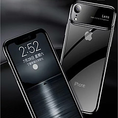 Недорогие Кейсы для iPhone-Кейс для Назначение Apple iPhone XR / iPhone XS Max Зеркальная поверхность / Прозрачный Кейс на заднюю панель Однотонный Твердый ПК для iPhone XS / iPhone XR / iPhone XS Max