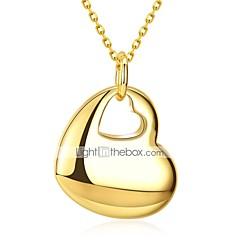 preiswerte Halsketten-Lucky Doll 1pc Kupfer vergoldet Draussen zum Gold / Damen / Herz / Anhängerketten / Anhängerketten