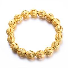 preiswerte Armbänder-Damen Frosted Ball Armband - vergoldet Luxus, Ethnisch Armbänder Gelb Für Party Geschenk