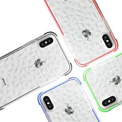 Недорогие Кейсы для iPhone 6 Plus-Кейс для Назначение Apple iPhone X / iPhone XS Max Защита от удара Кейс на заднюю панель Однотонный Мягкий ТПУ для iPhone XR / iPhone XS Max / iPhone X