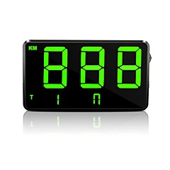 Недорогие Камеры заднего вида для авто-ZIQIAO C80 3.9 дюймовый Дисплей заголовка Многофункциональный дисплей / Аварийный сигнал с превышением скорости для Автомобиль / Автобус / Грузовик Дисплей KM / h MPH