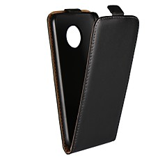 Недорогие Чехлы и кейсы для Motorola-Кейс для Назначение Motorola G5 Plus / G5 со стендом / Флип Чехол Однотонный Твердый Настоящая кожа для Moto X4 / Moto X Play / Moto X / Мото G5 Plus