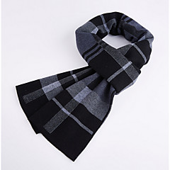 cheap Men's Accessories-Men's Basic Rectangle Scarf - Color Block Tassel / Winter