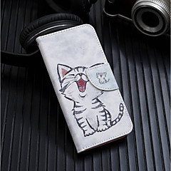 abordables Fundas para iPhone-Funda Para Apple iPhone XR / iPhone XS Max Cartera / Soporte de Coche / con Soporte Funda de Cuerpo Entero Gato Dura Cuero de PU para iPhone XS / iPhone XR / iPhone XS Max