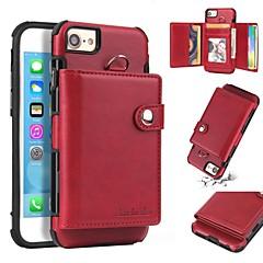 Недорогие Кейсы для iPhone 6 Plus-Кейс для Назначение Apple iPhone 8 / iPhone 7 Plus Кошелек / Бумажник для карт / Защита от удара Кейс на заднюю панель Однотонный Мягкий ТПУ для iPhone 8 Pluss / iPhone 8 / iPhone 7 Plus