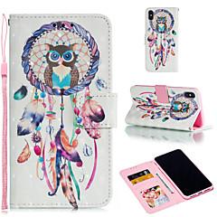 Недорогие Кейсы для iPhone 7-Кейс для Назначение Apple iPhone XR / iPhone XS Max Кошелек / Бумажник для карт / со стендом Чехол Сова / Ловец снов Твердый Кожа PU для iPhone XS / iPhone XR / iPhone XS Max