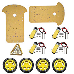 abordables Kits de Bricolaje-¡nuevo producto! chasis de automóvil inteligente / vehículo de rastreo inteligente de dos niveles de cuatro ruedas k-002 / cuerpo de automóvil extendido