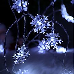 お買い得  LED ストリングライト-brelongクリスマスデコレーション10led snowflake string light 1 pc