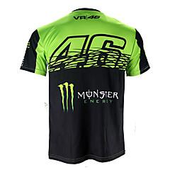 Недорогие Мотоциклетные куртки-motogp футболка верховая езда мотоцикл vr46 рыцарь локон хлопок с коротким рукавом гоночный костюм футболка