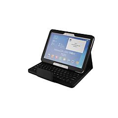 Недорогие Чехлы и кейсы для Galaxy Tab 4 10.1-Кейс для Назначение SSamsung Galaxy Tab 4 10.1 с клавиатурой Чехол Однотонный Твердый Кожа PU для Tab 4 10.1
