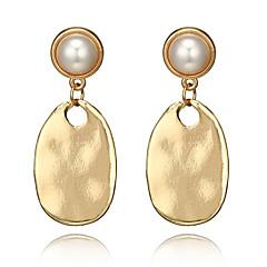 preiswerte Ohrringe-Damen Vintage Stil Tropfen-Ohrringe Ohrring - Künstliche Perle Tropfen, Birne Punk, Modisch Golden Für Party / Abend Geschenk
