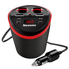 Недорогие Автоэлектроника-Newmine Автомобиль Автомобильное зарядное устройство 2 USB порта для 5 V