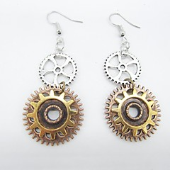 preiswerte Ohrringe-1 Paar Damen Vintage Stil Tropfen-Ohrringe - Ausrüstung damas Stilvoll Retro Steampunk Schmuck Gold / Weiß Für Strasse