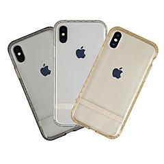 Недорогие Кейсы для iPhone-Кейс для Назначение Apple iPhone XS Защита от пыли / Ультратонкий / Прозрачный Кейс на заднюю панель Однотонный Мягкий ТПУ для iPhone XS