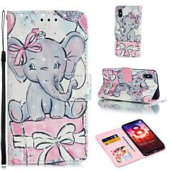 Недорогие Чехлы и кейсы для Xiaomi-Кейс для Назначение Xiaomi Redmi 6 / Xiaomi Mi Max 3 Кошелек / Бумажник для карт / со стендом Чехол Слон Твердый Кожа PU для Xiaomi Redmi Note 6 / Xiaomi Pocophone F1 / Redmi 6A