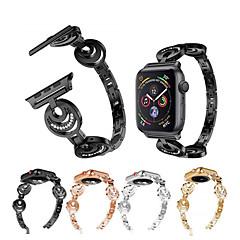abordables Accessoires Apple Watch-Bracelet de Montre  pour Apple Watch Series 4/3/2/1 Apple Bracelet Sport / Design de bijoux Acier Inoxydable Sangle de Poignet
