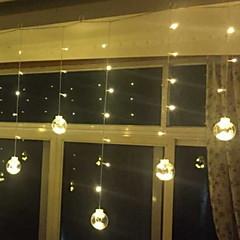 お買い得  LED ストリングライト-2.5m ストリングライト 120 LED 温白色 装飾用 220-240 V 1セット