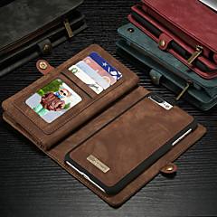 Недорогие Кейсы для iPhone-CaseMe Кейс для Назначение Apple iPhone 8 Plus / iPhone 7 Plus Кошелек / Бумажник для карт / со стендом Чехол Однотонный Твердый Кожа PU для iPhone 8 Pluss / iPhone 7 Plus