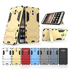 Недорогие Чехлы и кейсы для Huawei Mate-Кейс для Назначение Huawei Mate 10 Защита от удара / со стендом Кейс на заднюю панель Однотонный / броня Твердый ПК для Mate 10