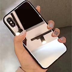 Недорогие Кейсы для iPhone 7 Plus-Кейс для Назначение Apple iPhone XR / iPhone XS Max Зеркальная поверхность Кейс на заднюю панель Однотонный Твердый Закаленное стекло для iPhone XS / iPhone XR / iPhone XS Max