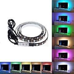 abordables Tiras de Luces RGB-Brelong colorido luminoso 0.9 m epoxi impermeable tv fondo tira de luz 1 pc