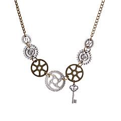 preiswerte Halsketten-Damen Retro Vintage Halskette - Schlüssel, Ausrüstung Erklärung, Retro, Steampunk Cool Bronze 68 cm Modische Halsketten Schmuck 1pc Für Maskerade, Professionell