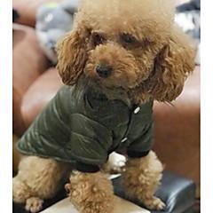 お買い得  犬用ウェア&アクセサリー-犬用 / 猫用 コート 犬用ウェア ソリッド グレー / グリーン コットン コスチューム ペット用 男女兼用 保温 / ファッション