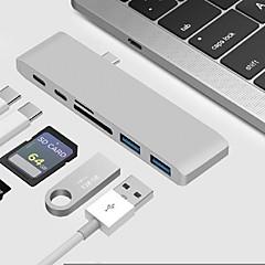お買い得  Mac 用ケーブル-タイプC USBケーブルアダプタ ALL-IN-1 アダプター 用途 Macbook / MacBook Air / MacBook Pro 0 cm 用途 アルミ