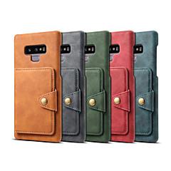 abordables Novedades-Funda Para Samsung Galaxy Note 9 Cartera / Soporte de Coche / Antigolpes Funda Trasera Un Color Dura Cuero de PU para Note 9