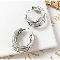 preiswerte Ohrringe-Damen Mehrschichtig Kreolen - Einfach, Europäisch, Modisch Silber / Golden Für Normal Alltag