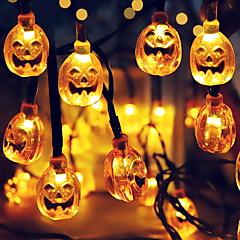 preiswerte LED Lichtstreifen-6m Leuchtgirlanden 30 LEDs Warmes Weiß Dekorativ Solarbetrieben 1 set
